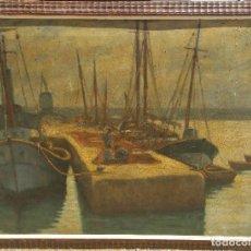 Arte: OLEO PINTADO SOBRE TABLILLA DE MADERA PARECIDA AL CARTON DEL 1945. Lote 89352996