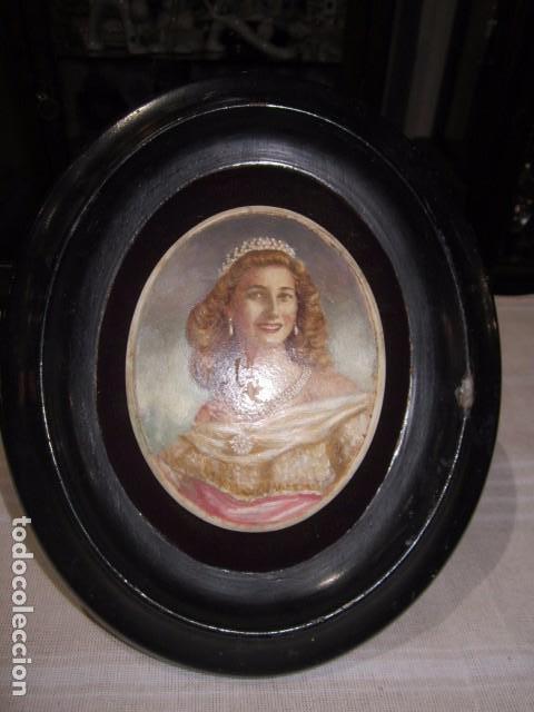 retrato de mujer. óleo sobre material desconoci - Comprar Pintura al ...