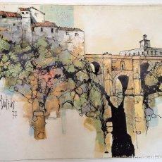 Arte: ÓLEO SOBRE TELA PIERRE BERTSCHI 1977 RONDA. Lote 89713684