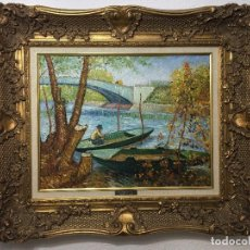 Arte: KK ANTIGUO CUADRO OLEO SOBRE LIENZO PONT DE CLICHY 1887 VINCENT VAN GOGH. Lote 89725472