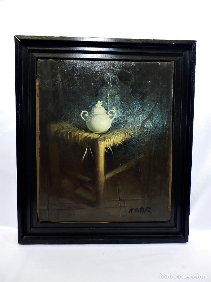 Arte: Rafael Català (CaStellón 1929) Bodegón óleo sobre lienzo - Foto 6 - 89775664