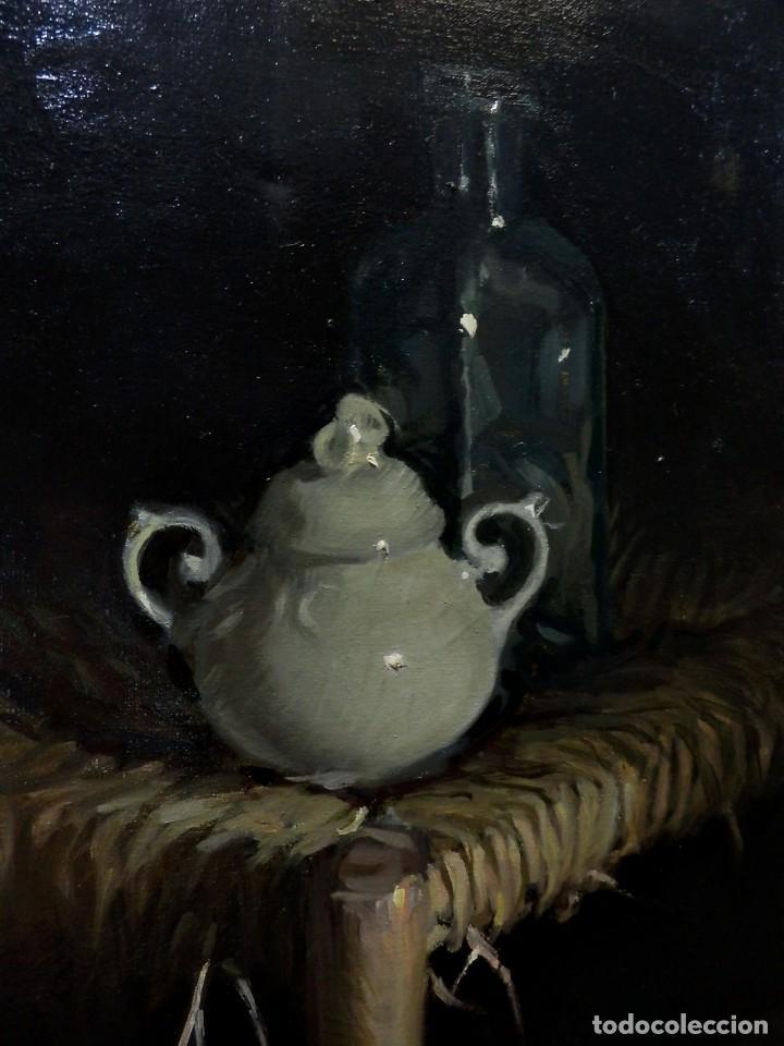 Arte: Rafael Català (CaStellón 1929) Bodegón óleo sobre lienzo - Foto 8 - 89775664