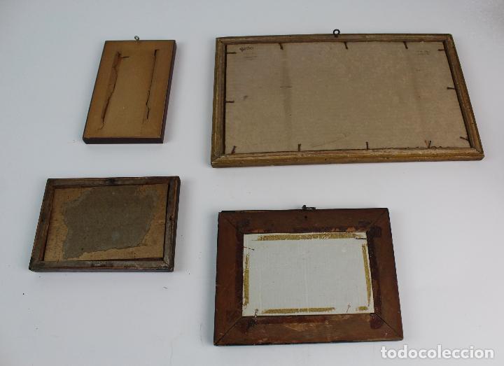 C 333 Lote De 4 Cuadros Diferentes Tecnicas Y Comprar Pintura Al - Cuadros-diferentes