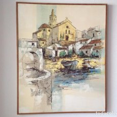 Arte: ÓLEO SOBRE TELA DE PIERRE BERTSCHI CADAQUÉS. Lote 90189996