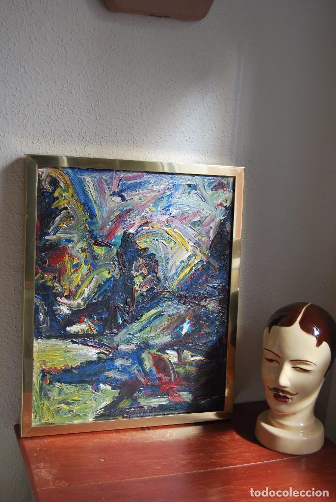 ÓLEO SOBRE TABLA - PAISAJE EXPRESIONISTA - G. MORALES - ENCENTROS CON LA RUTA DEL ALBA - ASTURIAS (Arte - Pintura - Pintura al Óleo Contemporánea )