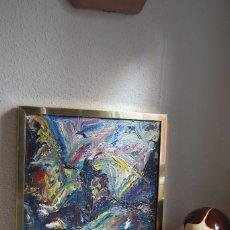 Arte: ÓLEO SOBRE TABLA - PAISAJE EXPRESIONISTA - G. MORALES - ENCENTROS CON LA RUTA DEL ALBA - ASTURIAS. Lote 90409714