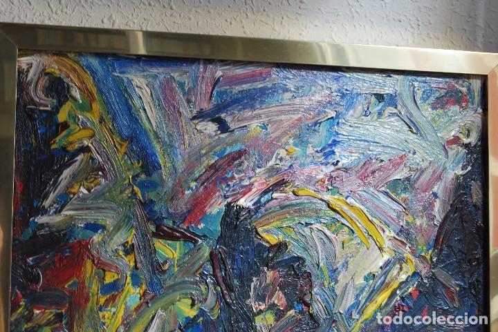Arte: ÓLEO SOBRE TABLA - PAISAJE EXPRESIONISTA - G. MORALES - ENCENTROS CON LA RUTA DEL ALBA - ASTURIAS - Foto 3 - 90409714