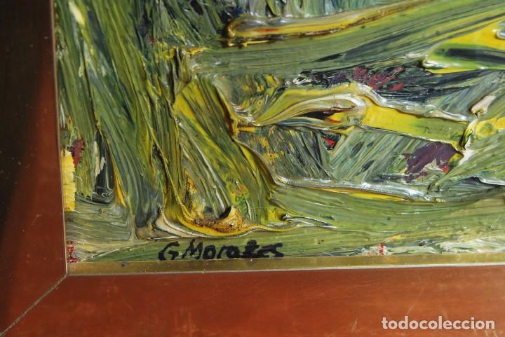 Arte: ÓLEO SOBRE TABLA - PAISAJE EXPRESIONISTA - G. MORALES - ENCENTROS CON LA RUTA DEL ALBA - ASTURIAS - Foto 6 - 90409714