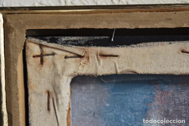 Arte: ÓLEO SOBRE TABLA - PAISAJE EXPRESIONISTA - G. MORALES - ENCENTROS CON LA RUTA DEL ALBA - ASTURIAS - Foto 8 - 90409714