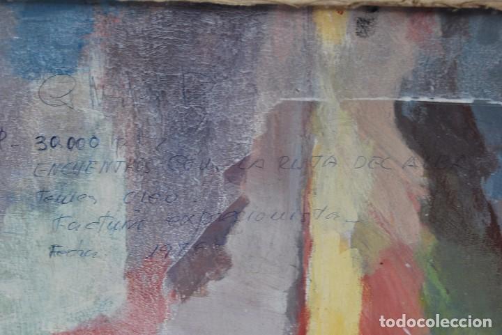 Arte: ÓLEO SOBRE TABLA - PAISAJE EXPRESIONISTA - G. MORALES - ENCENTROS CON LA RUTA DEL ALBA - ASTURIAS - Foto 9 - 90409714