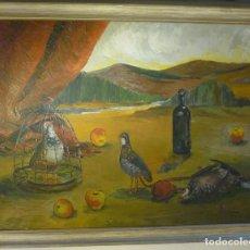 Arte: PAISAJE CON BODEGON POR ALVAR SUÑOL (1935) DE 1954. Lote 90455474