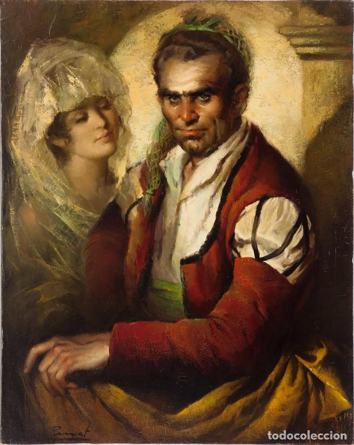 JOSE PUYET PADILLA, PINTOR MALAGUEÑO, ÓLEO LIENZO 99X80 (Arte - Pintura - Pintura al Óleo Contemporánea )