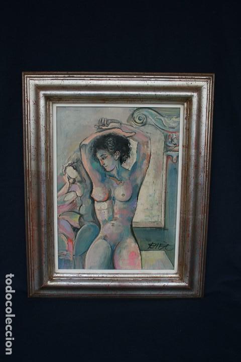 JUAN RIFA - JOAN RIFÀ BENET ( TORELLÓ, BARCELONA, 1926 – 2009 ) MAGNIFICA OPORTUNIDAD. (Arte - Pintura - Pintura al Óleo Contemporánea )