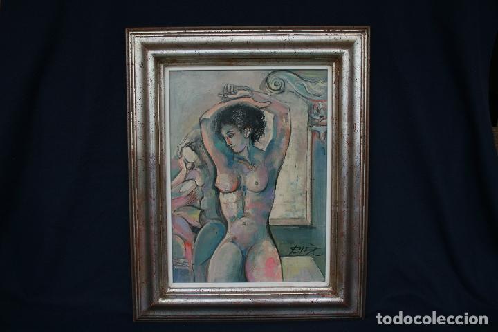 Arte: JUAN RIFA - JOAN RIFÀ BENET ( Torelló, Barcelona, 1926 – 2009 ) MAGNIFICA OPORTUNIDAD. - Foto 2 - 114517714
