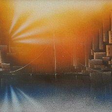 Arte: PRECIOSA PINTURA VINTAGE MUY DECORATIVA, FIRMADA AÑO 75. Lote 90896137