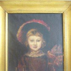 Arte: OLEO RETRATO INFANTE.LEER DESCRIPCION. Lote 97029050