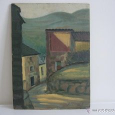 Arte: OLEO TABLA CALLE-CASAS ADOLFO FRANCES ASENCIO 1940 BOICARENTE ( VALENCIA).LEER DESCRIPCION. Lote 90982840