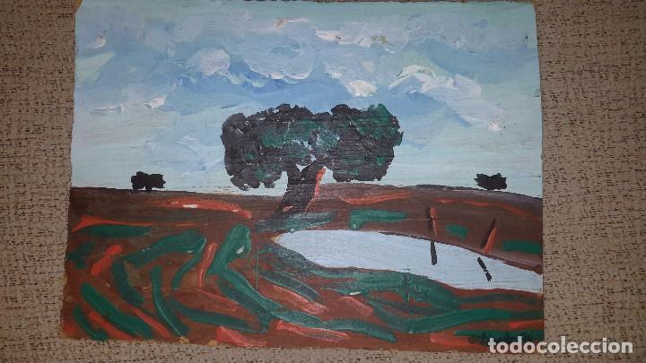 BADAJOZ CUADRO AL ÓLEO DEL PINTOR BOHEMIO LOCAL - TOTO ESTIRADO - FIRMADO ESTIRADO 94 - (Arte - Pintura - Pintura al Óleo Contemporánea )