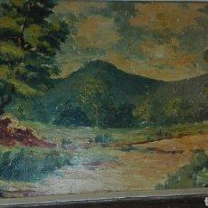 Arte: ÓLEO SOBRE TABLA ATRIBUIDO A JORDI SARRA I RRABASCALL. Lote 91017679
