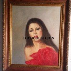 Arte: ISABEL PANTOJA(MAGNIFICA PINTURA SOBRE LIENZO DE LA GENIAL ARTISTA SEVILLANA) ). Lote 91156055