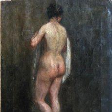 Arte: ROMANTICISMO,PINTURA AL OLEO SIGLO XVIII-XIX,DESNUDO FEMENINO,ATRIBUIBLE A WILLIAN ETTY,INVERSION. Lote 65868094