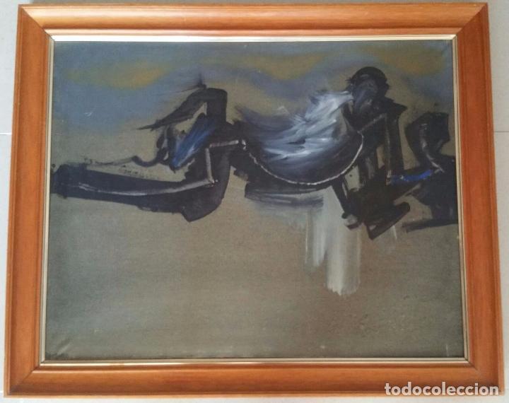 INTERESANTE OBRA ABSTRACTA - OLEO SOBRE LIENZO - ENMARCADA Y FIRMADA MANZANO (Arte - Pintura - Pintura al Óleo Moderna sin fecha definida)