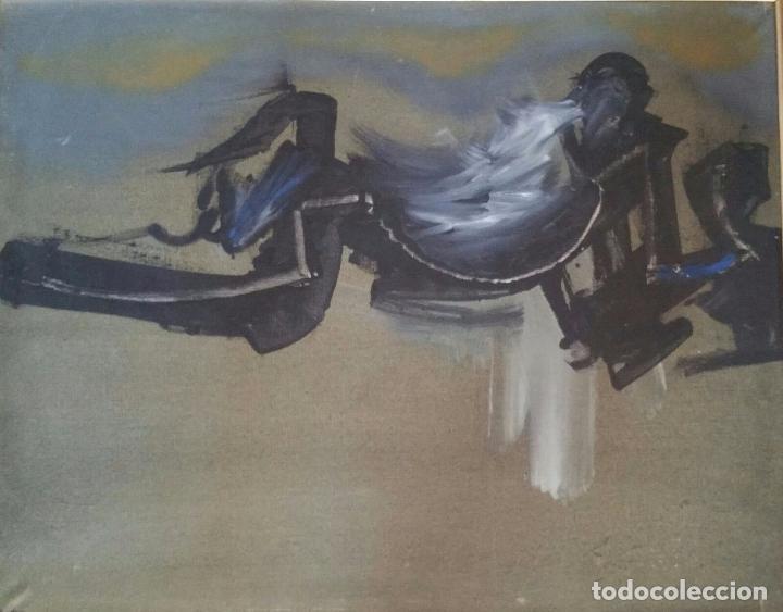Arte: Interesante obra abstracta - Oleo sobre lienzo - Enmarcada y Firmada Manzano - Foto 2 - 91234675