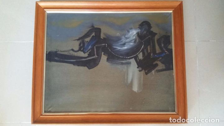 Arte: Interesante obra abstracta - Oleo sobre lienzo - Enmarcada y Firmada Manzano - Foto 3 - 91234675