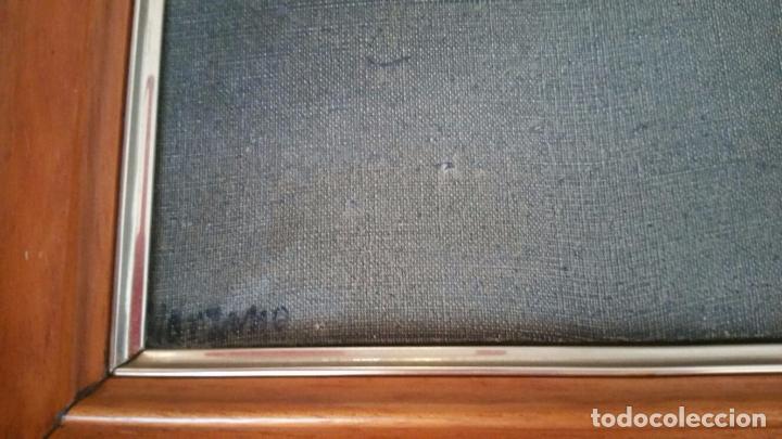 Arte: Interesante obra abstracta - Oleo sobre lienzo - Enmarcada y Firmada Manzano - Foto 5 - 91234675