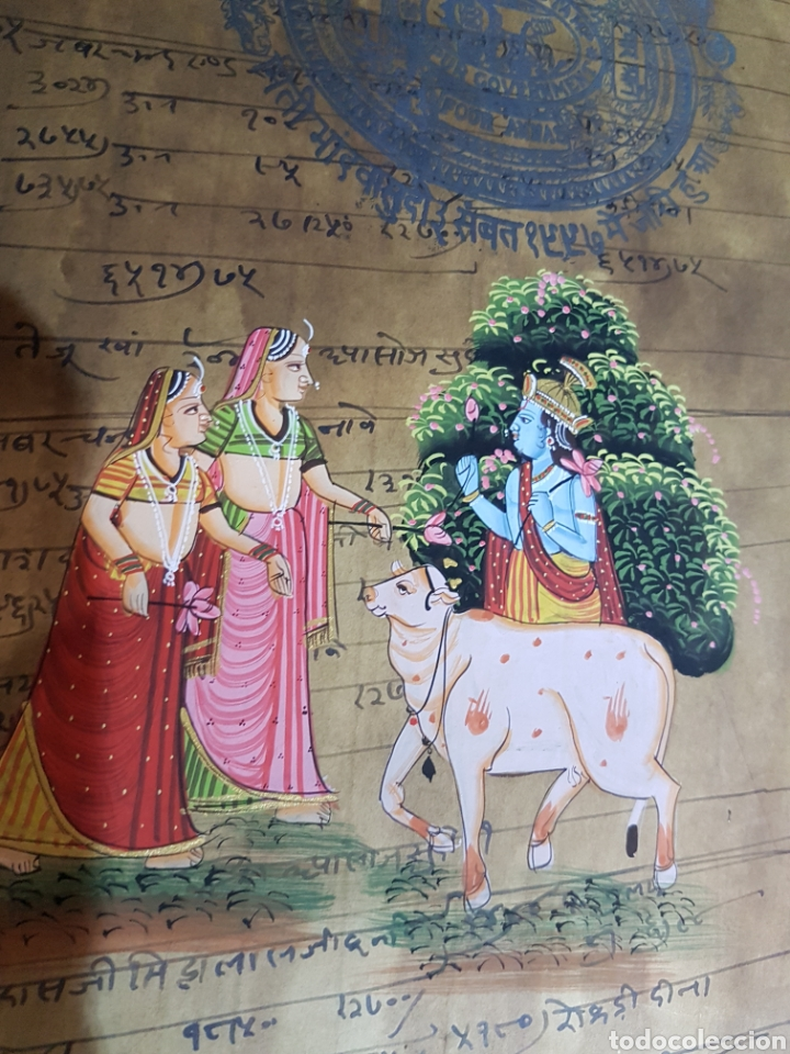 Arte: Pintura con Krishna y Radha. - Foto 3 - 175463715