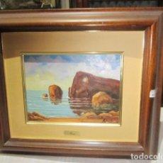 Arte: ÓLEO SOBRE TABLEX FIRMADO ROCA. 22,5 X 17 CMS. MARCO: 42 X 36 CMS.. Lote 91253095