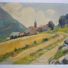 Arte: OLEO PAISAJE -PUEBLO FIRMADO SEGURA.LEER DESCRIPCION. Lote 91266870