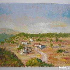 Arte: OLEO PAISAJE VISTA PARCIAL PUEBLO.LEER DESCRIPCION. Lote 91267395