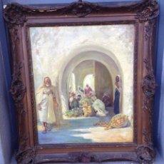 Arte: MARIANO BERTUCHI NIETO (1885-1955) PINTOR ESPAÑOL - ÓLEO SOBRE TELA - ESCENA ARABE. Lote 91275030