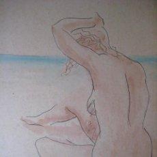 Arte: MAGNIFICA PINTURA. DESNUDO DE ESPALDAS. DESPUÉS DE MATISSE.. Lote 91347660