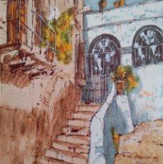 Arte: BERNARD DUFOUR. ACRÍLICO SOBRE LIENZO ENGANCHADO A TABLA (OLEOGRAFIA / SERIGRAFIA). Lote 91369950