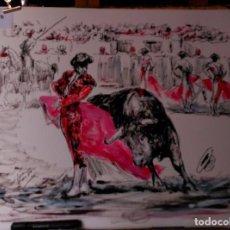 Arte: LOPEZ CANITO, OLEO, EN PINTURA TAURINA. Lote 199325777