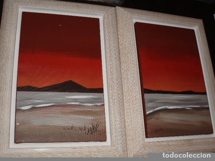 CUADRO PAISAJE ENMARCADOS PAREJA DE CONJUNTO (Arte - Pintura - Pintura al Óleo Contemporánea )