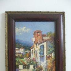 Arte: OLEO SOBRE CARTON J.BELLIDO COSTUMBRISTA PAISAJE-CALLE J.BELLIDO.LEER DESCRIPCION. Lote 91556145