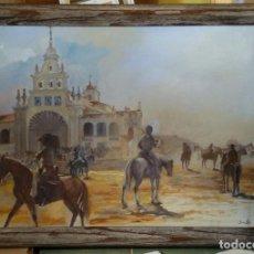 Arte: EN EL ROCIO. ACRÍLICO SOBRE TELA. MIDE 92X65.. Lote 91560165