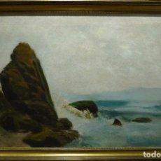 Arte: MAR DE TORMENTA POR RAMON MARTI ALSINA (1826-94). Lote 91829815
