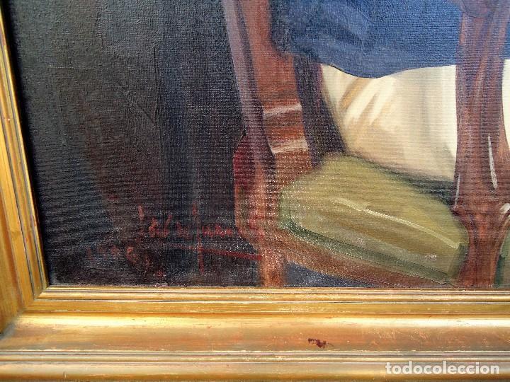 Arte: J.FCO.TORO DE JUANAS (oleo sobre lienzo) IMPRESIONANTE 117 X 108cm: - Foto 7 - 91830045