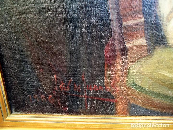 Arte: J.FCO.TORO DE JUANAS (oleo sobre lienzo) IMPRESIONANTE 117 X 108cm: - Foto 8 - 91830045