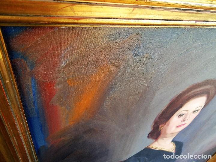 Arte: J.FCO.TORO DE JUANAS (oleo sobre lienzo) IMPRESIONANTE 117 X 108cm: - Foto 9 - 91830045
