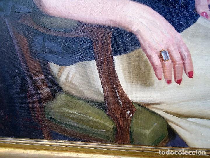 Arte: J.FCO.TORO DE JUANAS (oleo sobre lienzo) IMPRESIONANTE 117 X 108cm: - Foto 14 - 91830045