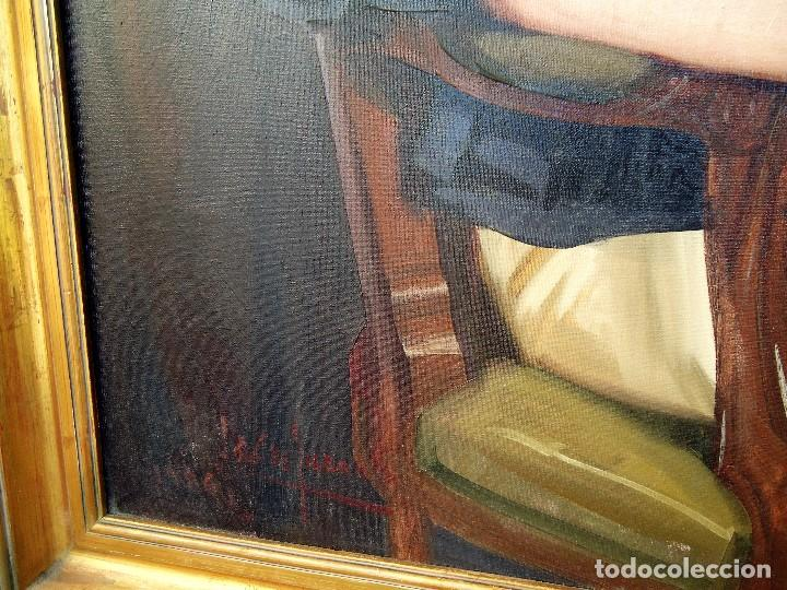 Arte: J.FCO.TORO DE JUANAS (oleo sobre lienzo) IMPRESIONANTE 117 X 108cm: - Foto 15 - 91830045