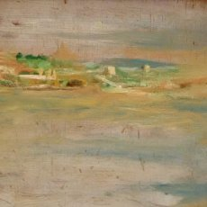 Arte: ELISEO MEIFRÉN I ROIG (1857-1940) OLEO SOBRE TABLA. PAISAJE FIRMADO. Lote 91890040