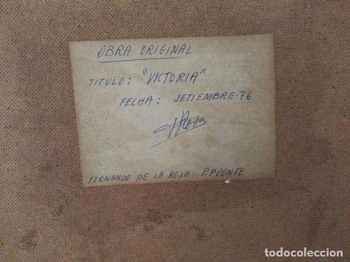 Arte: Fernando de la Rosa - Oleo sobre tabla - Victoria - Firmado y fechado - Foto 3 - 91891380