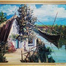 Arte - Oleo sobre lienzo. De pintor constumbrista valenciano, Rocamora padre. Oleo a espatula. - 91917974