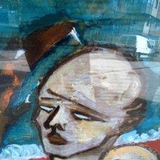 Arte: MIGUEL SERRANO CROMA MIDE 90X60 CM. IMPRESIONANTE ÓLEO SOBRE CARTÓN. Lote 91940625